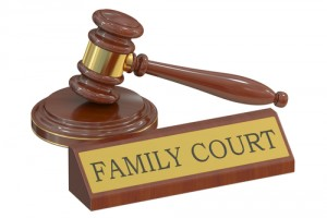 "Gavel with a sign that says ""family court"""